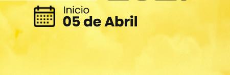 Data de início - 05 de Abril